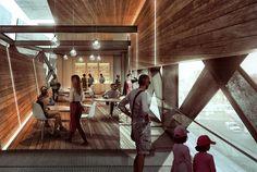 Train Pavilion Interior Study | Visualizing Architecture