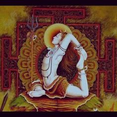 Shiva in Yoga Asana - King Pigeon Shiva Yoga, Shiva Shakti, Yoga Art, Shiva Art, Hindu Art, Indian Gods, Indian Art, Lord Shiva Painting, Yoga