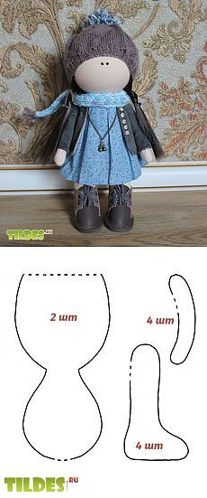 How to sew handmade hobby interior body for a little doll style Tatiana Connaught with foam ball for the head. Master class from Anna Kiseleva.
