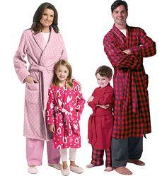 B5724  Misses'/Men's/Children's/Boys'/Girls' Robe and Belt  Very Easy