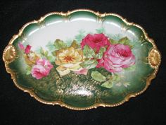 Limoges France Collector Plate Roses On Sale 10 by elodiesmelodies, $190.00