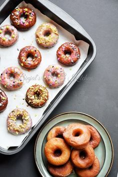 Homemade Eggless Donuts or Doughnuts