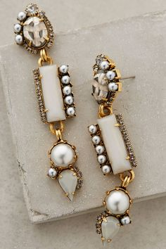 Pearled Candrima Drops earrings #anthrofave - 25% off with code: HOLIDAY25 http://rstyle.me/n/tb2g6n2bn
