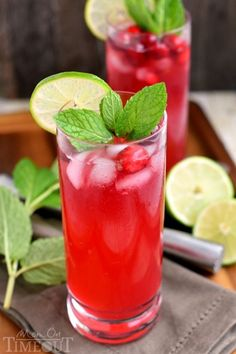 Cranberry Mojitos are perfect for any night but especially a celebration!