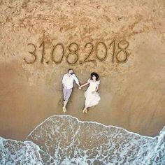 10 Awesome, Creative and Memorable Wedding Guest Book Ideas is part of Beach wedding photos One of the most important thing at the advent of married life is the blessings and good words bestowed upo - Pre Wedding Shoot Ideas, Pre Wedding Poses, Pre Wedding Photoshoot, Wedding Couples, Wedding Bride, Wedding Dress, Prewedding Photoshoot Ideas, Wedding Inspiration, Hair Wedding