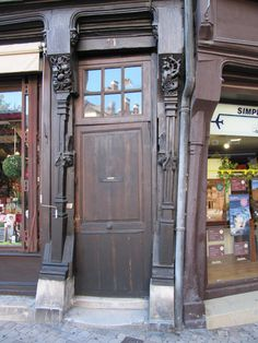 Wonky doorway in Bourges, France