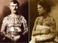 man-and-woman-vintage-tattoos.jpg (600×445)