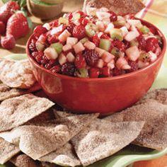 Annie's Fruit Salsa and Cinnamon Chips — Punchfork