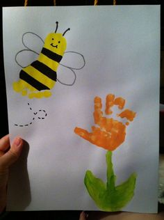 Image result for handprint bee craft