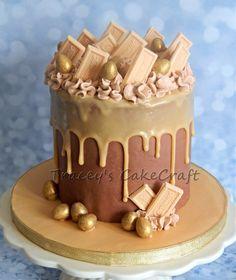 Death by Caramac! Choc sponge with caramac & milk choc ganache. Chocolate Ganache Drip Cake, Chocolate Cakes, Caramac Cake, Beautiful Cakes, Amazing Cakes, Fisherman Cake, 21 Birthday, Birthday Cakes, Birthday Ideas