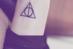 If I could get a tatoo, I'd want it to be this one! #deathlyhallows