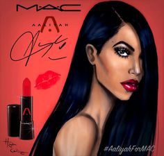It's been 14 years without #Aaliyah but her legacy still lives on!! Inspired by the #AaliyahForMAC movement, I came up with this art piece. MAC Potentially may release a limited edition collection in honour of Aaliyah. How cool would that be?! Plus, her brother Rashad approves of this collab. This is my contribution to helping make this a reality. You can also help by signing the petition below. Let's make it happen! Aaliyah deserves it…