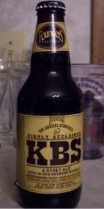 Founders KBS (Kentucky Breakfast Stout) is a American Double / Imperial Stout style beer brewed by Founders Brewing Company in Grand Rapids, MI. 100 out of 100 with 9098 ratings, reviews and opinions.