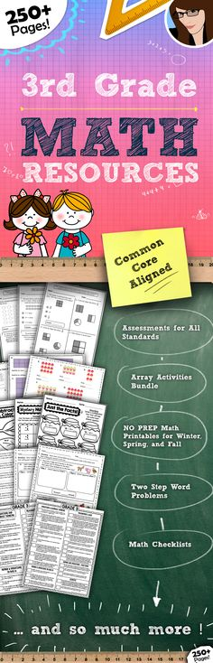 3rd Grade Math Resource Bundle..250+ Pages