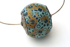 Single Big Bead by Steven Ford and David Forlano: Polymer Clay Necklace - STUDIO SALE available at www.artfulhome.com
