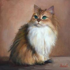 """Smoothie. Oil cat painting."" - Yana Golikova"