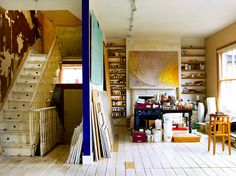 ...for painting.  (Can you imagine having this as your studio?  Heaven.  Sheer heaven.)