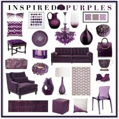 Inspired Purples by aprimmdesign on Polyvore featuring interior, interiors, interior design, home, home decor, interior decorating, Armen Living, Sunpan, abcDNA and Eichholtz