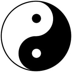 In Chinese philosophy, the concept of Yin-Yang is used to describe how seemingly opposite or contrary forces are interconnected and interdependent in the natural world; and, how they give rise to each other as they inter-relate to one other.  Yin is characterized as slow, soft, yielding, diffuse, cold, wet, passive, water, earth, moon, femininity, nighttime.  Yang, by contrast, is fast, hard, solid, focused, hot, dry, aggressive, fire, sky, sun, masculinity, daytime.