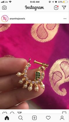 Nose Ring Jewelry, Gold Nose Rings, Gold Earrings Designs, Necklace Designs, Nose Ring Designs, Indian Nose Ring, Stylish Dress Designs, Latest Jewellery, Blouse Patterns
