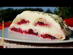 Farfuria vesela: Prajitura cu cirese, fructe de padure si crema de ... No Cook Desserts, Something Sweet, Pudding, Ice Cream, Make It Yourself, Cooking, Mai, Food, Youtube