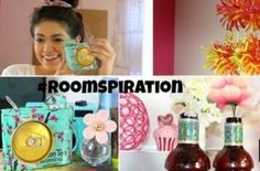"""DIY ROOMSPIRATION! #recycling Arizona Green tea containers into vases & cool camera! Plastic water bottles into awesome spring/summer chandelier! What to know how to make it???? Go to Macbarbie07 on YouTube and look for """"DIY room decorations using water bottles & soda cans"""""""