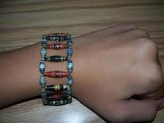 diy bracelets from magazines - Google Search