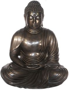 Japanese Buddha in Bronze Oriental-Sculptures-Statues- Figurines-Statuary for the Garden - Outdoor Décor for Sale at  AllSculptures.com