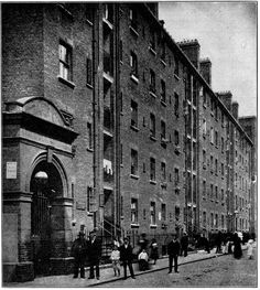 Abyss_page244. Wentworth Street Dwellings across the road from Lolesworth Buildings.