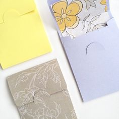 diy stationery - mini flap envelopes