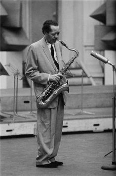 Herman Leonard | Lester Young Paris, France 1956