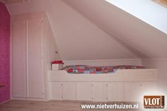 Attic storage and tucked away bed!!