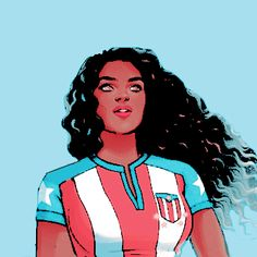 Marvel, Miss America, and america chavez image Dc Comics Women, Dc Comics Heroes, Marvel Women, Marvel Girls, Marvel Dc Comics, Comic Style Art, Comic Styles, Marvel Comic Character, Marvel Characters