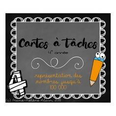 Cartes à tâche - représentation des nombres Daily 5 Math, French Education, Math Games, Teaching Math, Kids Learning, Elementary Schools, Classroom, Quote, New Class