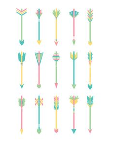 Pastel Arrows Art Print