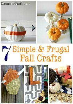 7 Simple & Frugal Fall Crafts via RainonaTinRoof.com #fall