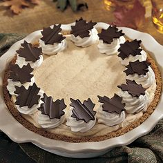 Frozen Pumpkin Mousse Pie The Pampered Chef® #amandacooksforyou www.tinyurl.com/amandacooksforyou