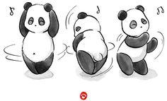 """Panda Food Dance"" Stickers by Panda And Polar Bear Panda Food, Bride And Groom Cartoon, Polar Bear, Snoopy, Dance, Stickers, Fictional Characters, Pandas, Dancing"