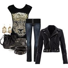 """Biker Babe"" outfit"