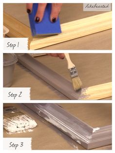 How to gray wash frames.