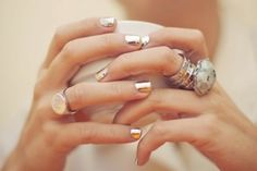 silver chrome nails.... dig it