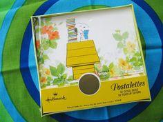 Vintage Hallmark Stationery Snoopy Postalettes Sealed in box Peanuts  http://www.etsy.com/shop/HipCatRetroVintage?ref=si_shop