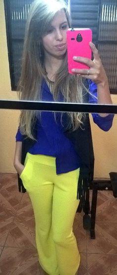 Camisa + Colete + calça flare