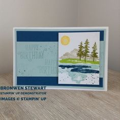 Stampin' Up Occasions 2018 Waterfront stamp set - facebook.com\craftingblitz