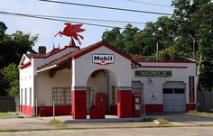 mobil gas station by Exquisitely Bored in Nacogdoches, via Flickr