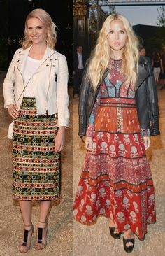 January Jones e Rachel Zoe - Burberry