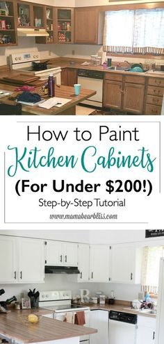 Uplifting Kitchen Remodeling Choosing Your New Kitchen Cabinets Ideas. Delightful Kitchen Remodeling Choosing Your New Kitchen Cabinets Ideas. Kitchen Cabinets On A Budget, Kitchen Cabinets Before And After, Painting Kitchen Cabinets White, Kitchen Cabinet Remodel, Diy Cabinets, Kitchen Paint, Kitchen Redo, Painting Cabinets, New Kitchen