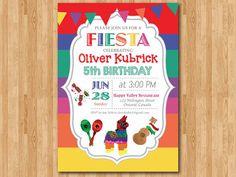 Fiesta Birthday Invitation. Mexican Invitation. Kids by arthomer, $10.00