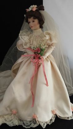 Ashton Drake Galleries 1994 Porcelain Bridal Doll picclick.com