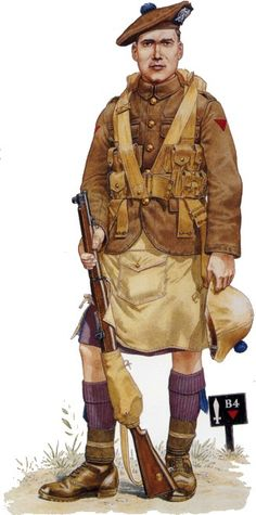 London Scottish Rifle Volunteers WWI, private - pin by Paolo Marzioli British Army Uniform, British Uniforms, Military Art, Military History, Military Uniforms, World War One, First World, Scottish Army, British Armed Forces